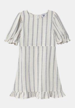 Cotton On - PARIS SHORT SLEEVE DRESS - Freizeitkleid - vanilla/blue