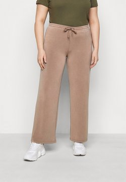 Pieces Curve - PCRISE WIDE PANT LOUNGE - Jogginghose - dark grey