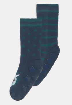 Ewers - LIGHT DINO 2 PACK UNISEX - Calcetines - dark blue/green