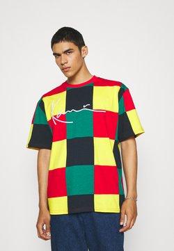 Karl Kani - SIGNATURE BLOCK TEE UNISEX - T-shirt con stampa - red