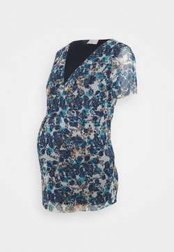 MAMALICIOUS - MLFLOWER - T-Shirt print - blue flower