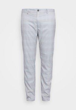 Topman - HERI CHECK - Suit trousers - light blue