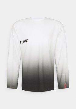 F_WD - T-shirt print - white/black