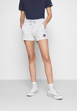 Tommy Jeans - BADGE - Shorts - silver grey heather