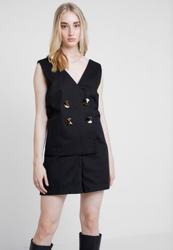 Lost Ink - PLAYSUIT WITH WRAP BUTTON DETAIL - Combinaison - black