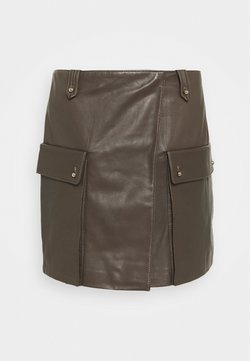 Trussardi - SKIRT PLONGE - Mini skirt - shitake