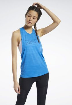 Reebok - WORKOUT READY ACTIVCHILL TANK TOP - Top - blue