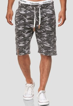 INDICODE JEANS - Shorts - charcoal mix