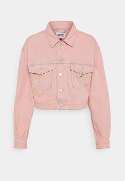 Tommy Jeans - CROPPEDTRUCKER JACKET - Veste en jean - pink daisy
