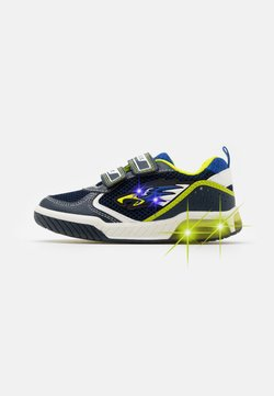 Geox - INEK BOY - Sneaker low - navy/lime