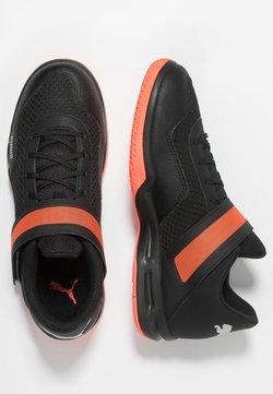 Puma - RISE XT 4 - Zapatillas de balonmano - black/silver/nrgy red