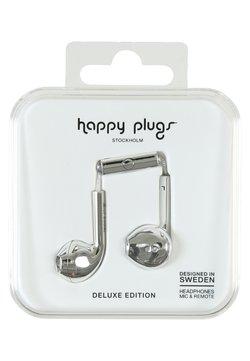 Happy Plugs - PLUS DELUXE - Hodetelefoner - silver
