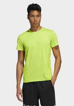 adidas Performance - AEROREADY 3-STRIPES T-SHIRT - T-Shirt basic - green