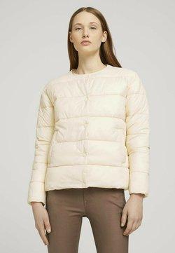 TOM TAILOR DENIM - KRAGENLOSE  - Winterjacke - blazed beige