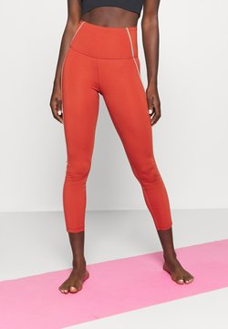 Nike Performance - YOGA CORE 7/8 VINT VINYASA - Medias - firewood orange/claystone red