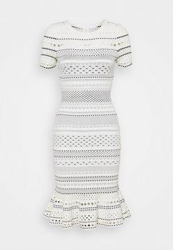 Milly - GEO CUT OUT MERMAID DRESS - Strickkleid - ecru/black