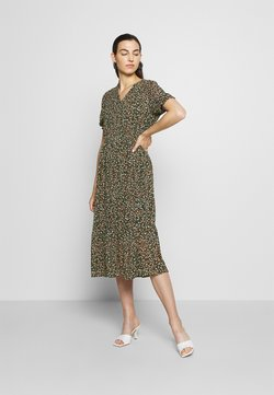 Moss Copenhagen - EDA RIKKELIE DRESS - Freizeitkleid - brown / multicolor