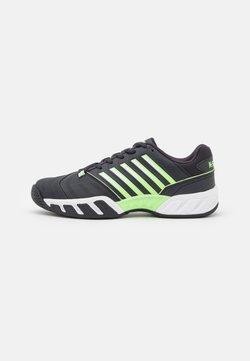 K-SWISS - BIGSHOT LIGHT 4 - All court tennisskor - blue graphite/soft neon green/white