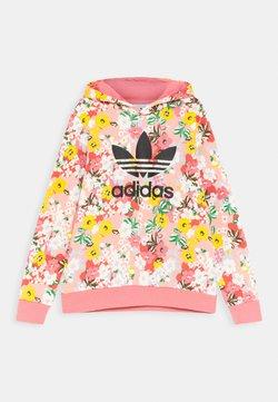 adidas Originals - FLORAL TREFOIL HOODIE - Collegepaita - trace pink/multicolor/black