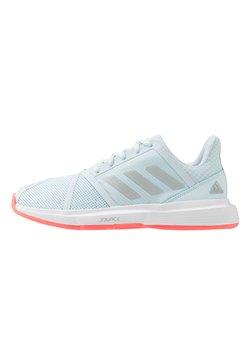adidas Performance - COURTJAM BOUNCE - Tennisschoenen voor alle ondergronden - sky tint/silver metallic/signal pink