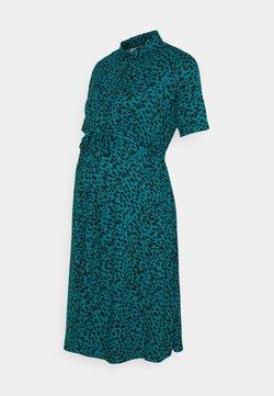 JoJo Maman Bébé - GEO DRESS - Vestido ligero - teal