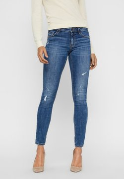 Vero Moda - VMLYDIA LOW WAIST - Jeans Skinny Fit - dark blue denim
