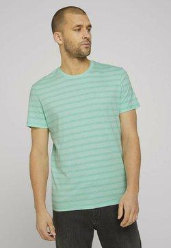 TOM TAILOR - T-Shirt print - lucite green fine stripe