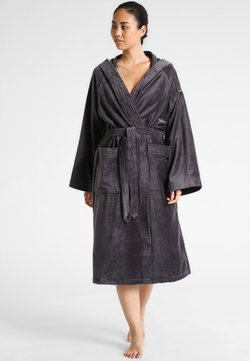 TOM TAILOR - BASIC VELOURS - Dressing gown - dark grey