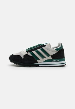adidas Originals - ZX 500 UNISEX - Sneaker low - grey one/collegiate green/core black