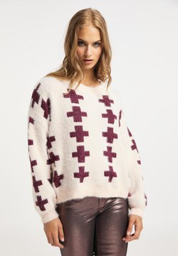myMo ROCKS - Trui - nude bordeaux