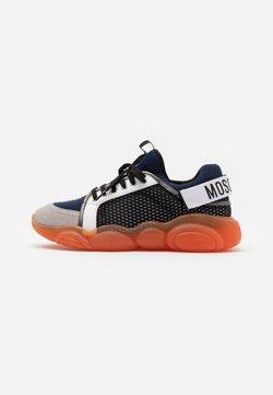 MOSCHINO - Sneaker low - navy/orange