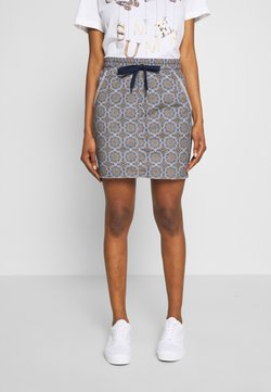 Rich & Royal - SKIRT WITH TILE PRINT - Bleistiftrock - deep indigo