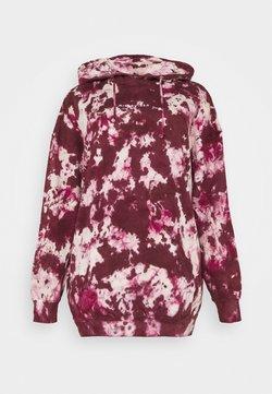 Missguided Plus - TIE DYE HOODY DRESS - Hoodie - raspberry