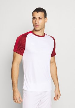 Umbro - TRAINING - T-Shirt print - brilliant white/merlot