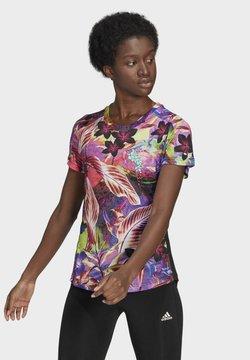 adidas Performance - FLORAL TEE W - Camiseta estampada - pink