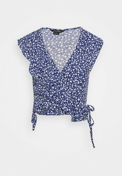 Monki - MAJ BLOUSE - Bluser - blue