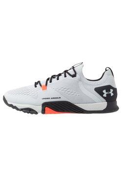 Under Armour - TRIBASE REIGN  - Sports shoes - halo gray/blackout purple