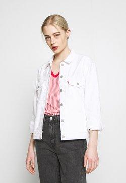 Levi's® - EX-BOYFRIEND TRUCKER - Denim jacket - white