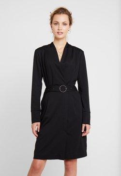 Cream - ZIA COAT DRESS - Shift dress - pitch black