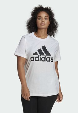 adidas Performance - MUST HAVES BADGE OF SPORT T-SHIRT (PLUS SIZE) - T-shirt con stampa - white