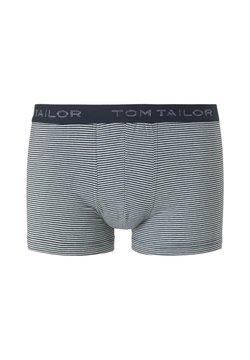 TOM TAILOR - MIT LOGO-STICKEREI AM  - Shorty - blue-light-stripes