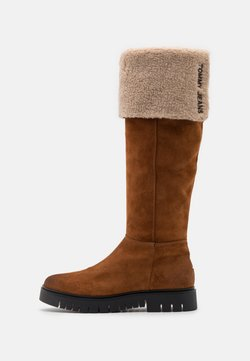 Tommy Jeans - WARM LINED LONG BOOT - Stiefel - winter cognac