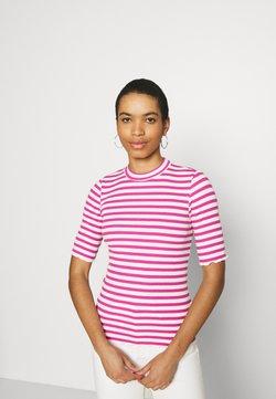 Selected Femme - SLFANNA CREW NECK TEE - T-Shirt print - rose/violet