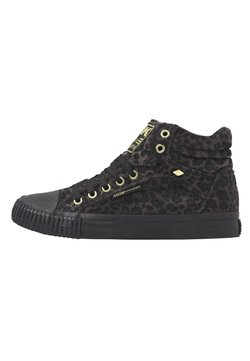 British Knights - DEE - Sneaker high - dk grey leopard/gold/black