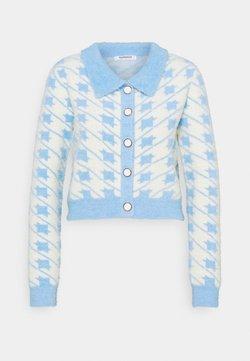 Glamorous - HOUNDSTOOTH CARDIGAN - Strickpullover - blue/cream multi