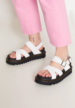 Dr. Martens - VOSS - Korkeakorkoiset sandaalit - white hydro