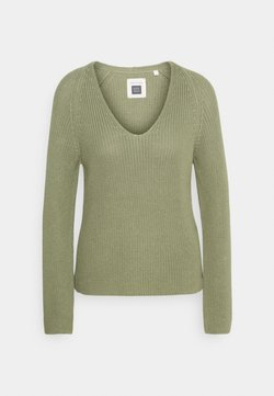Marc O'Polo - LONG SLEEVE - Strickpullover - dried sage