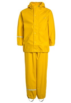 CeLaVi - RAINWEAR SUIT BASIC SET WITH FLEECE LINING - Regnbyxor - yellow