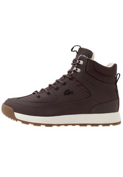 Lacoste - URBAN BREAKER - Sneaker high - dark brown/offwhite