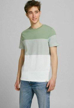 Jack & Jones - JORLAGUNA STRIPE TEE CREW NECK - T-Shirt print - sea spray